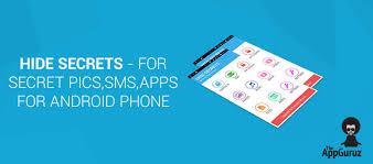 Sms Hide For Phone Secret Android Pics Secrets Apps gRwBRI