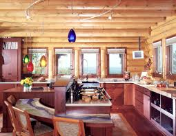 Cabin Kitchens Rustic Kitchen Cabinets For Log Cabins Ginkofinancial
