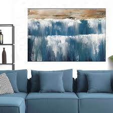 Living Room Paintings Art Aliexpresscom Buy Hand Painted Art Set Water Fall Landscape