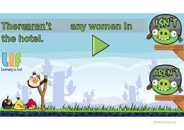 There is - There are. Angry Birds game - English ESL Powerpoints for  distance learning and physical classrooms