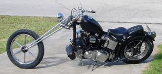 Photo Of 1964 Harley Davidson Sportster Chopper Motorcycle With Hardtail  Frame And Girder Fork 883cc