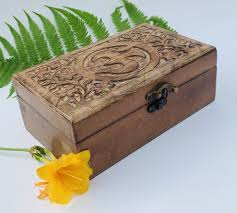 NIKKY HOME <b>Mango</b> Wood Storage Boxes Hand Carved <b>Bohemian</b> ...