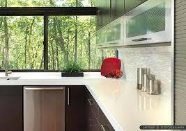 backsplash with white countertops white quartz modern tile backsplashes for kitchens with white quartz countertops