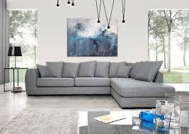 Ecksofa Luis Toller Sitzkomfort Mit Vielen Kissen Stoff Grau