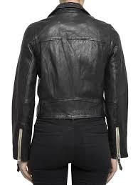 ikrix isabel marant etoile leather jacket aken nappa crop jacket