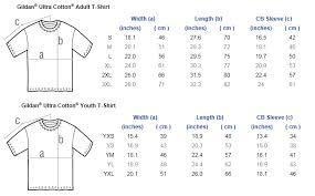 Gildan Hoodies Size Chart