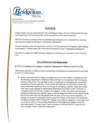 City Of Bridgeton New Jersey Housing Code Enforcement