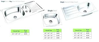 kitchen sink sizes stainless steel india