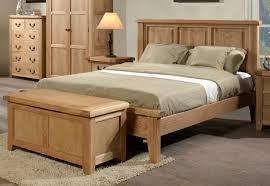 Oak Bedroom Somerset Oak Wooden Bed Frame Light Wood Wooden Beds Beds