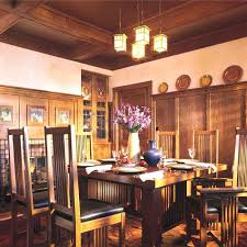 craftsman lighting dining room arts crafts style dining room with lantern chandelier craftsman style lighting dining