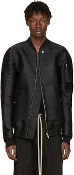 rick owens ssense exclusive black horsehair flight jacket men rick owens shoes fit rick
