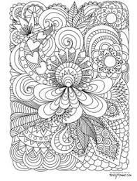abstract doodle coloring pages colouring detailed advanced printable kleuren voor volwenen coloriage pour e anti
