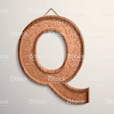 3d cork board texture letter Q royalty-free stock vector art