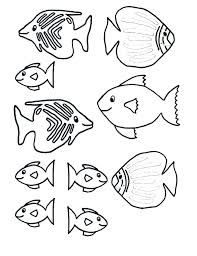 Fish Coloring Pages For Kids Real Fish Coloring Pages Fish Coloring