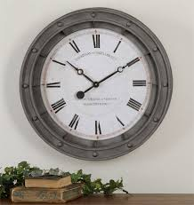 accessories porthole wall clock by uttermost 06092