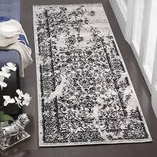 safavieh adirondack vintage distressed silver black runner rug 2 6 x 20