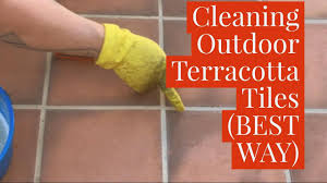 Best Way To Clean Outdoor Terracotta Tiles Youtube