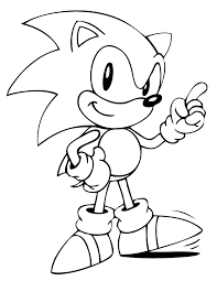 Small Picture Cute Sonic The Hedgehog Coloring Page Quinn Pinterest