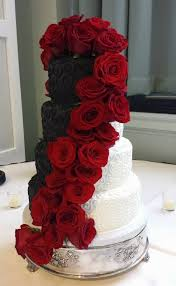 Black And Red Wedding Cake Black And Red Themed Wedding Black And