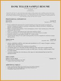 Bank Teller Resume Sample Fascinating Bank Teller Resume Sample Bank Teller Resume Skills Resume