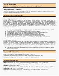 Support Technician Resume Very Best It Desktop Support Resume Programs Meant For 2019