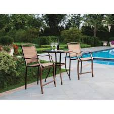 dune outdoor furniture. mainstays sand dune 3piece high outdoor bistro set seats 2 furniture