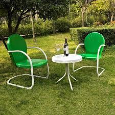 crosley furniture griffith 3 piece steel frame patio conversation set