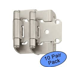 Amerock BP7550 G10 Satin Nickel Self Closing Partial Wrap Cabinet