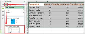 Pareto Analysis In Excel Template How To Create Simple Pareto Chart In Excel