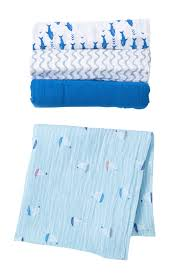 Aden Anais Making Waves Muslin Swaddles Pack Of 4 Nordstrom Rack