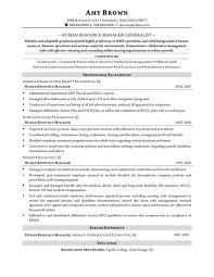 Sample Resume Hr Generalist Resume Format Resume Examples Hr