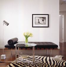 Zebra Rug Living Room Looking Hemnes Daybed Technique New York Modern Living Room