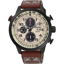 seiko men s prospex solar brown leather strap watch