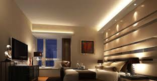 recessed lighting bedroom. Modern Small Bedroom Ideas Using Recessed Lighting In Ceiling And Above Window Has Three Desk Lamps On Nightstands O