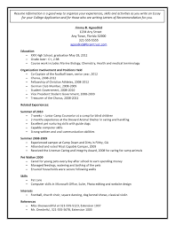 Example Of Student Resume For College Application New Lovely Student