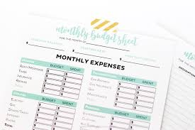 Printable Monthly Expense Sheet Simple Free Printable Budget Worksheets Printable Crush