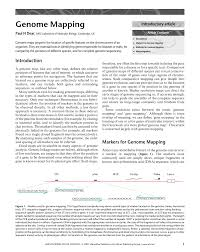 Gene Mapping Problems Pdf Genome Mapping