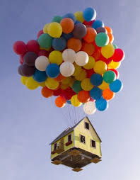 300 Helium Balloons Float Real Up House 10 000 Feet High