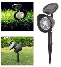 waterproof led solar lamp outdoor garden solar power spotlight lights