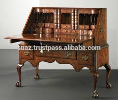 antique office table. Antique Study Room Desk, Writing Desk Table , Solid Wood Standing With Drawers Office F