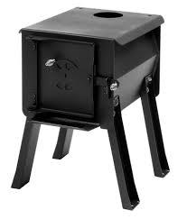 survivor lifestyle s cub portable camp cook wood stove 1 0 cu ft