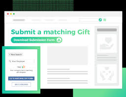 matching gift database access paper form on pany