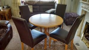 round kitchen table and 4 chairs lowered even further