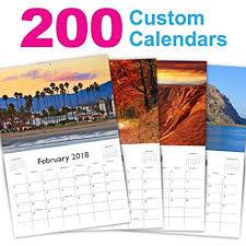 Custom Photo Calender Amazon Com Custom Calendar Printing 2018 Promotional Non