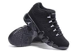 jordan 9 black. latest air jordan 9 low retro all black shoes