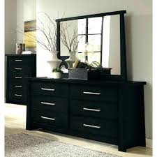 Black Dressers With Mirror Black Bedroom Dressers Black Bedroom Dresser  Modern Design Thin Handle Six Storage