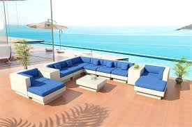 blue outdoor sectional white royal sofa set bold wicker patio furniture from wood pallet instructions wood outdoor sectional i63