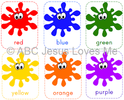 Colors are all around us in everything we see and it is important to teach toddlers colors and preschool children to learn colors they see. Free Abcjesuslovesme Printable Color Flashcards Color Flashcards Teaching Colors Learning Colors Activities