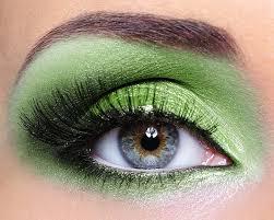 beautiful eye makeup pics electric green eyes look
