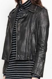 women clothing 70891165847553 mesop classic biker leather jacket black